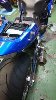 ZX12R 300タイヤカスタム電気系修理